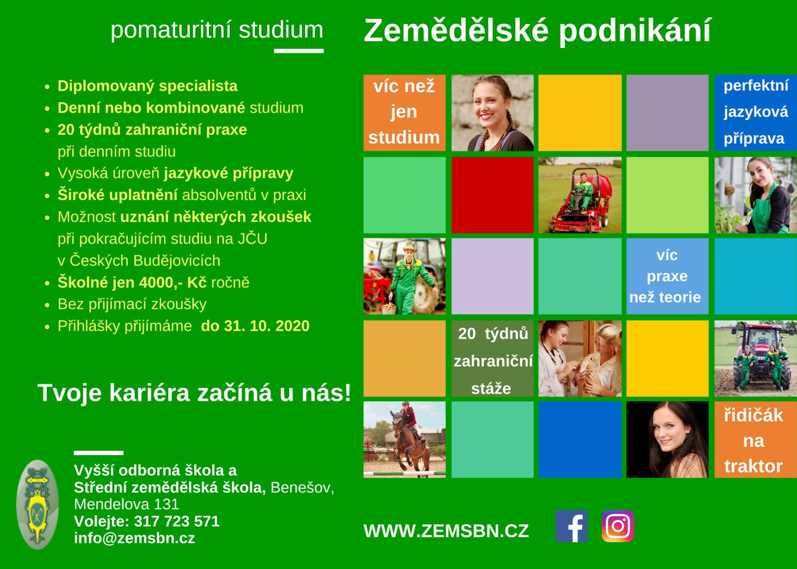 VOŠ_Zemědělské podnikání_leták